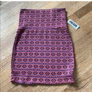 Pacsun highwaist aztec Skirt